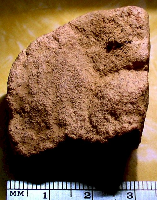 Sandstone Artifact from Day's Knob Archaeological Site