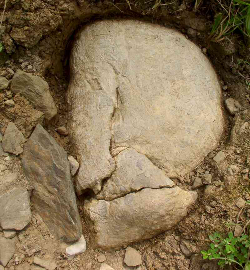 Skull-like Figure in Limestone - Day's Knob Archaeological Site (33GU218)