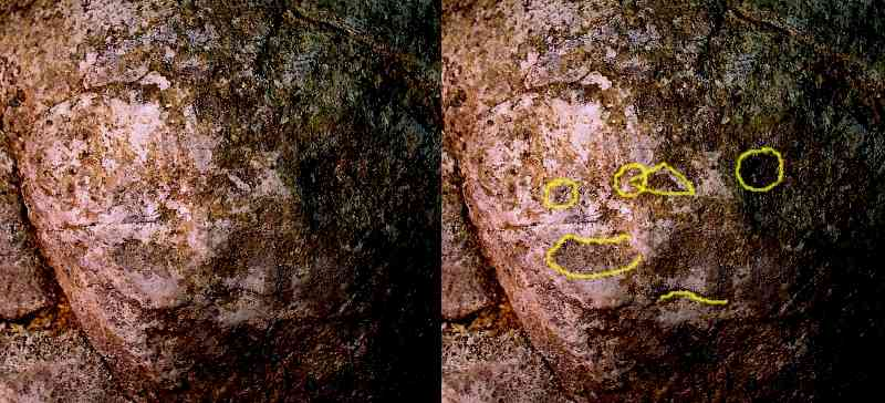 Human Face Image - Artifact from Day's Knob Archaeological Site