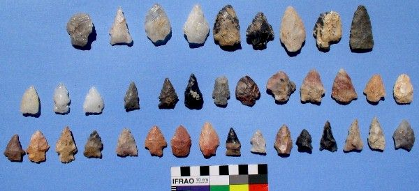Part of Flint and Quartz Point Cache  - Dave Gillilan Find