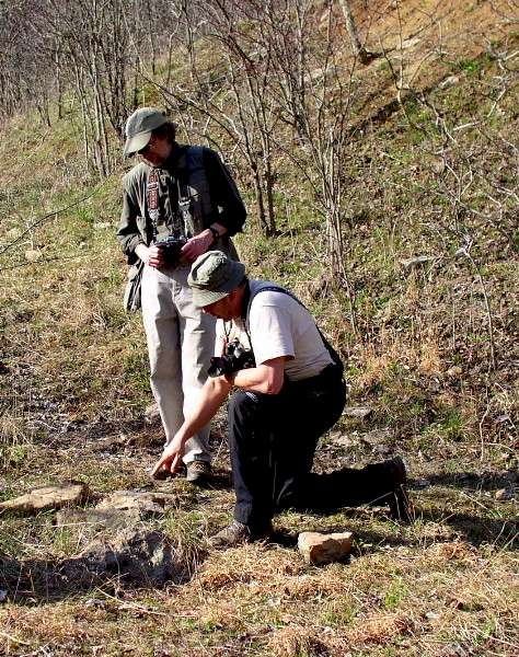 Dr. Arsen Faradzhev and Dr. James B. Harrod at the Day's Knob Site (33GU218)