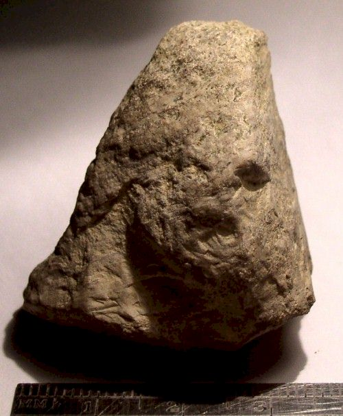 Human Face Figure in Limestone - Day's Knob Archaeological Site