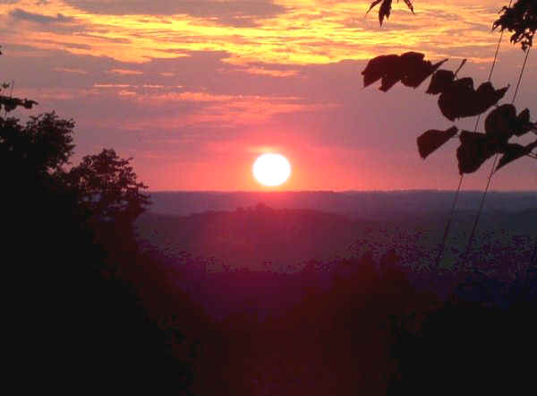 Summer Solstice Sunset at 33GU218 (Day's Knob Archaeological Site)