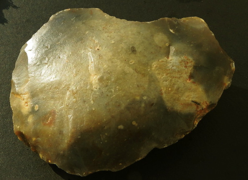 Palaeolithic Flint Scraper/Chopper, Groß Pampau, Northern Germany
