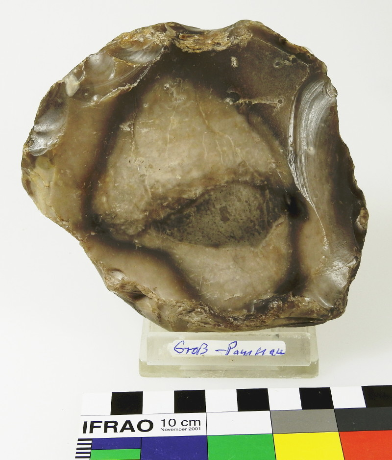 Flint Artifact Trimmed to Frame Fossil(?) Inclusion, Groß Pampau, Northern Germany