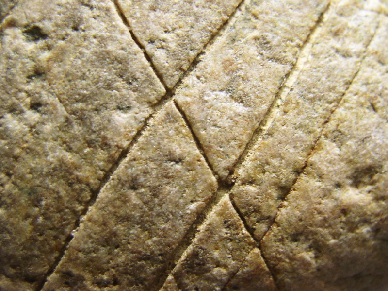 Crosshatch Engraving on Quartzite Cobble, Groß Pampau, Northern Germany